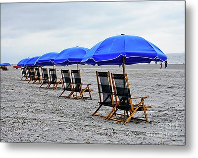 Slow Day At The  Beach Metal Print by Thomas Marchessault