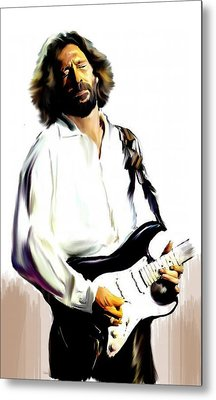 Slow Hand  Eric Clapton Metal Print by Iconic Images Art Gallery David Pucciarelli