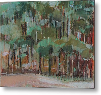 Small Green Forest Metal Print by Alicja Coe