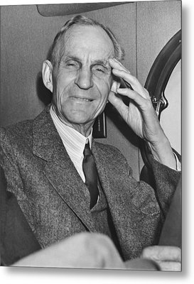 Smiling Henry Ford Metal Print by Underwood Archives