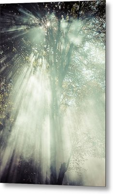 Smoke Metal Print by Chris Bordeleau