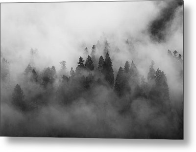 Smoke On The Mountain Metal Print by Aaron S Bedell