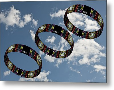 Smoke Rings In The Sky 1 Metal Print by Steve Purnell