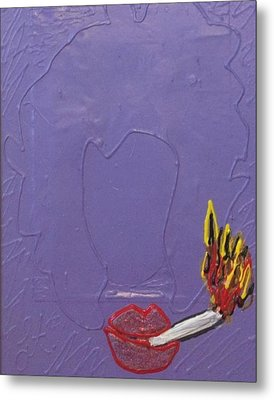 Smokers Club Metal Print by Lisa Piper Menkin Stegeman
