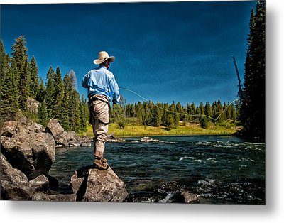 Snake River Cast Metal Print by Ron White