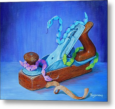 Snakes On A Plane Metal Print by Tanja Ware