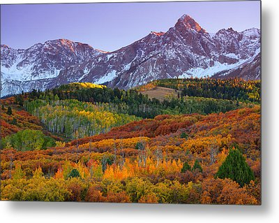 Sneffels Sunrise Metal Print by Darren  White