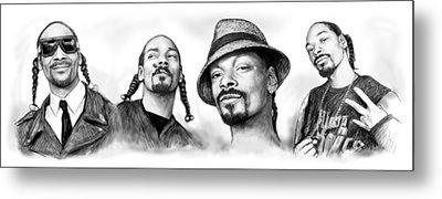 Snoop Dogg Group Art Drawing Sketch Poster 30x85cm Metal Print by Kim Wang