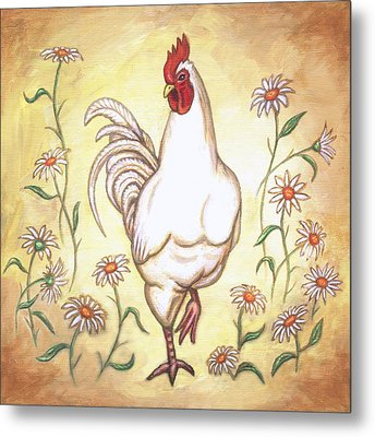 Snooty The Rooster Two Metal Print by Linda Mears