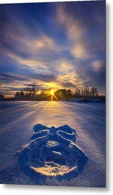 Snow Angel Metal Print by Phil Koch