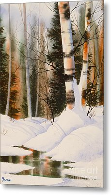 Snow Crevice Metal Print by Teresa Ascone