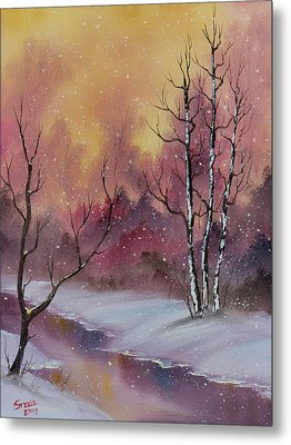 Winter Enchantment Metal Print by C Steele