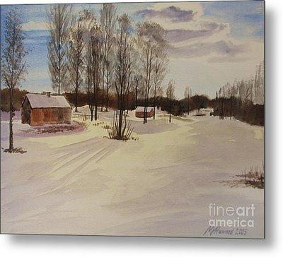 Snow In Solbrinken Metal Print by Martin Howard