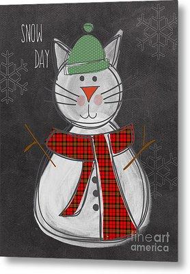 Snow Kitten Metal Print by Linda Woods