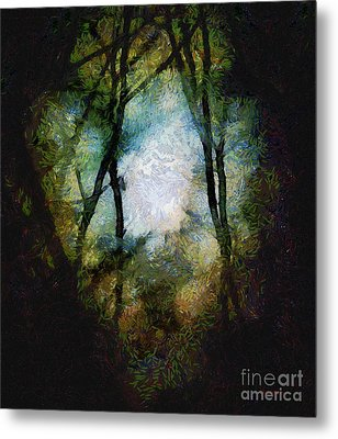 Snow Moon Embrace Metal Print by RC deWinter