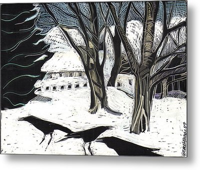 Snow Noise Metal Print by Grace Keown