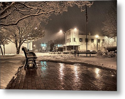 Snow Square - Color Metal Print by Jimmy McDonald