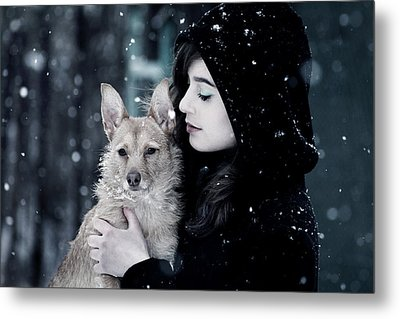 Snow Walk Metal Print by Cambion Art