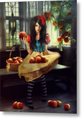 Snow White Metal Print by Cindy Grundsten