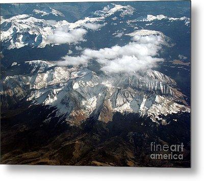 Snowcapped Mountains Metal Print by Eva Kato