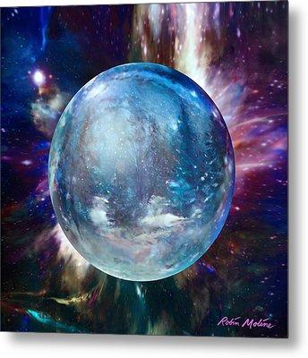 Snowglobular Metal Print by Robin Moline