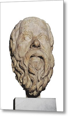 Socrates 470-399 Bc. Greek Athenian Metal Print by Everett