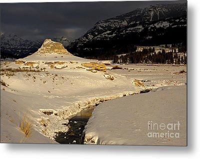 Soda Butte Yellowstone Metal Print by Deby Dixon