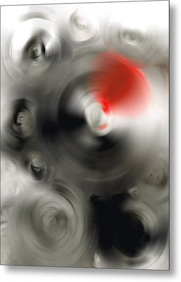 Soft Dance - Abstract Art By Sharon Cummings Metal Print by Sharon Cummings