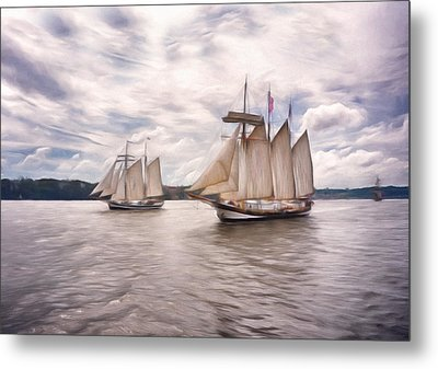 Softly Sailing Metal Print by Georgiana Romanovna
