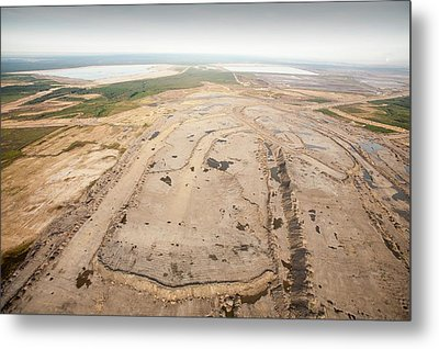Soil Removed To Reach Tar Sands Metal Print by Ashley Cooper