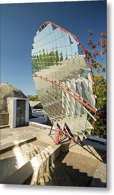Solar Cookers At The Barefoot College Metal Print by Ashley Cooper