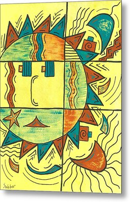 Solar Southwest Metal Print by Susie WEBER