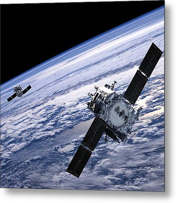 Solar Terrestrial Relations Observatory Satellites Metal Print by Anonymous