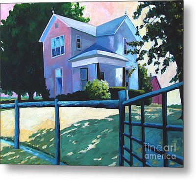 Sold Childhood Home Comissioned Work Metal Print by Charlie Spear