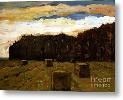 Sold Row By Row Metal Print by Charlie Spear