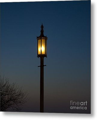 Solitary Gas Light Metal Print by Tim Mulina