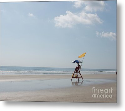 Solitary Watch Man Metal Print by Audrey Peaty