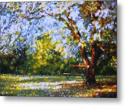 Solitude Garden Metal Print by Georgiana Romanovna