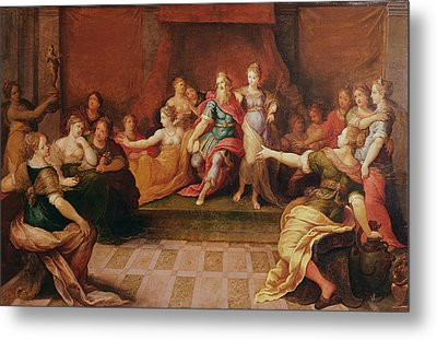 Solomon And His Women  Metal Print by Frans II the Younger Francken