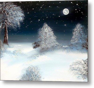 Solstice Snowfall I Metal Print by Alys Caviness-Gober