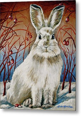 Some Bunny Is Charming Metal Print by Linda Simon