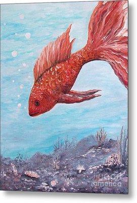 Something Is Fishy Metal Print by Rhonda Lee