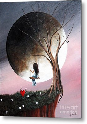 Sometimes She Just Wants To Be Alone By Shawna Erback Metal Print by Shawna Erback