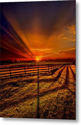 Song Of The Setting Sun Metal Print by Phil Koch