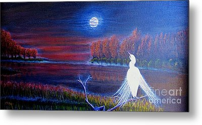 Song Of The Silent Autumn Night Metal Print by Kimberlee Baxter