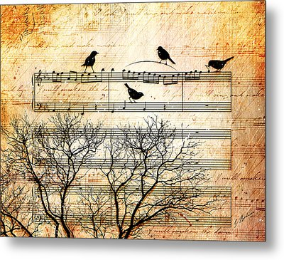 Songbirds Metal Print by Gary Bodnar