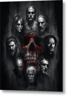 Sons Of Anarchy Tribute Metal Print by Alex Ruiz