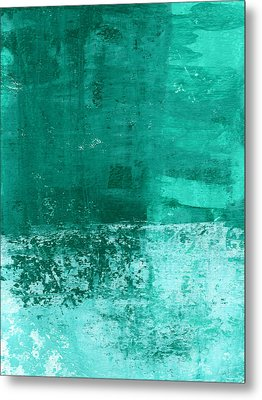 Soothing Sea - Abstract Painting Metal Print by Linda Woods