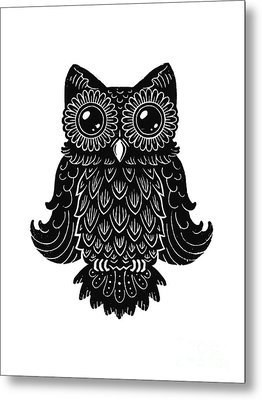 Sophisticated Owls 2 Of 4 Metal Print by Kyle Wood