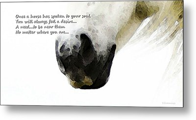Soul Touch - Emotive Horse Art By Sharon Cummings Metal Print by Sharon Cummings
